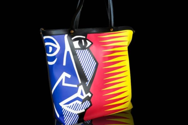 Limited edition of Borbonese art bag